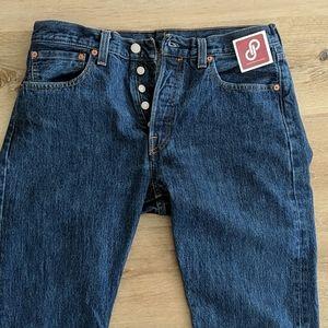 Levi's vintage 501 blue button up denim jeans